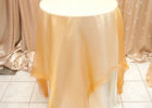 small round lace gold overlay tablecloth
