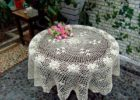 small white round vinyl elastic table covers
