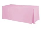 soft pink fitted rectangle tablecloths