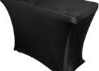 spandex black dj table cover