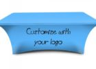 spandex table cover with logo custom company