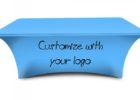 spandex table cover with logo custom company