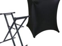 stretch black dj table cover