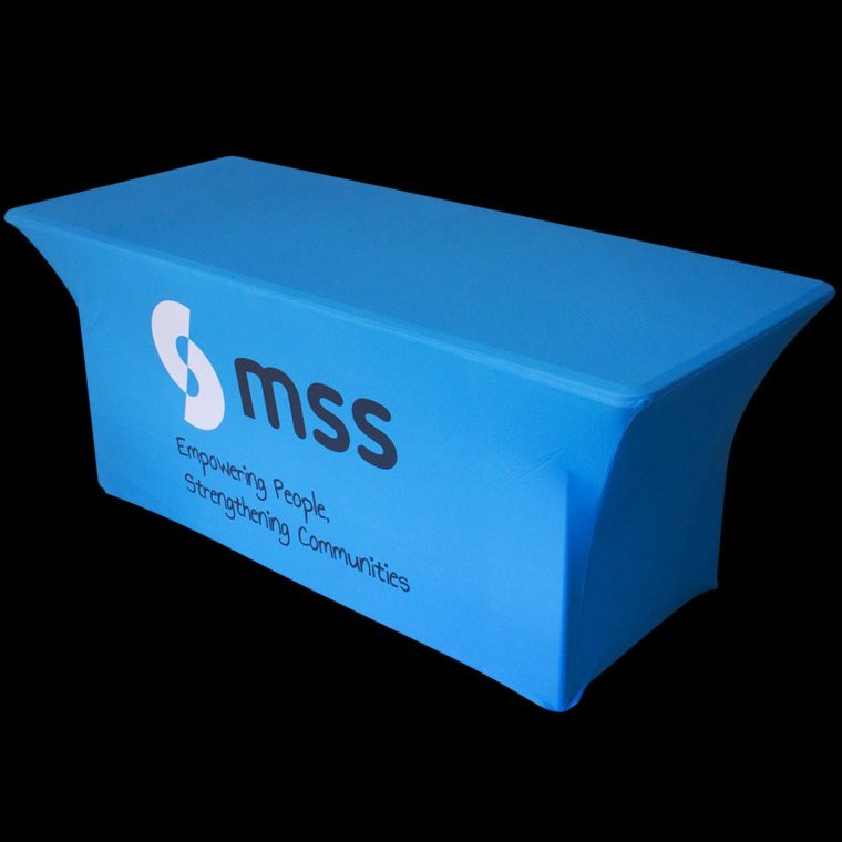 table cover with logo company cheap