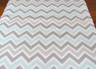 teal silver chevron table cover