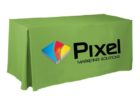 tradeshow table cover with logo company