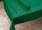 turqoise plastic table cover rolls