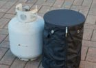 vinyl propane tank cover table