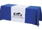 vinyl tradeshow table covers with logo