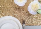 wedding glitter gold runners for tables