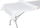 white 300 feet plastic table cover rolls