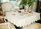 white card table covers