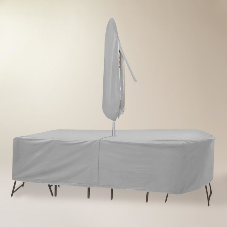 white dining table patio table cover with umbrella hole
