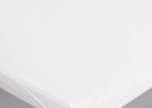 white edge elasticized table cover rectangle (standard)