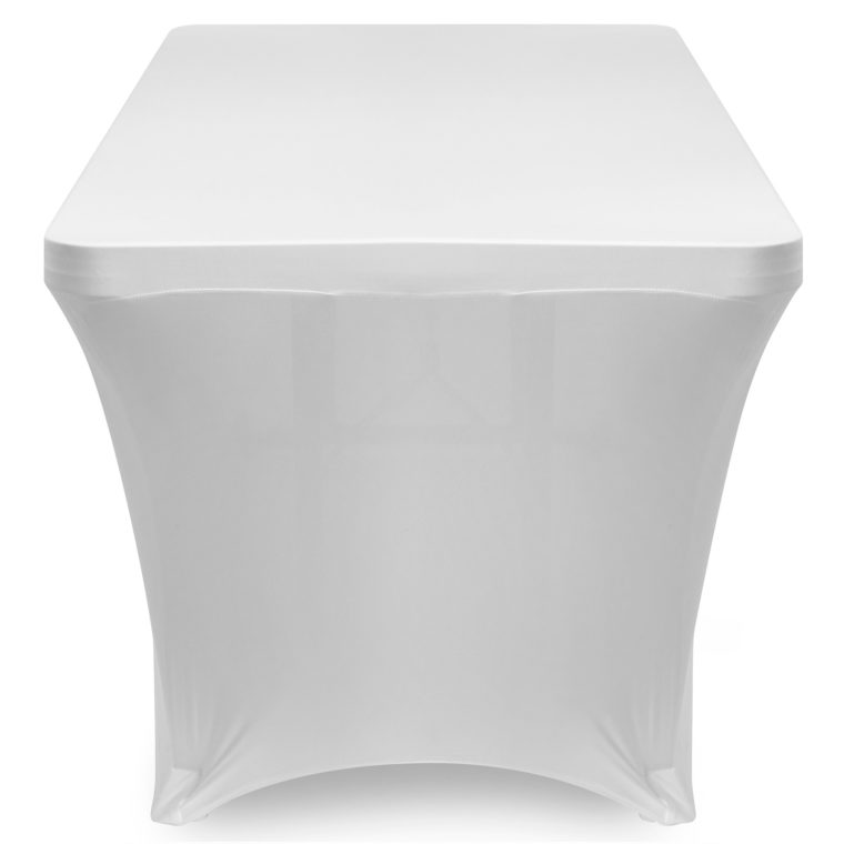 white elastic fitted rectangle tablecloths