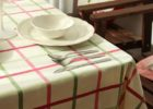 white elastic picnic table covers