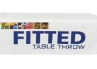 white fitted custom fitted table covers trade show