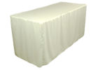 white fitted rectangle tablecloths