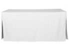 white fitted rectangle tablecloths pattern
