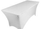 white fitted rectangle tablecloths vinyl
