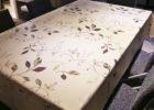 white flower rectangular elastic picnic table covers
