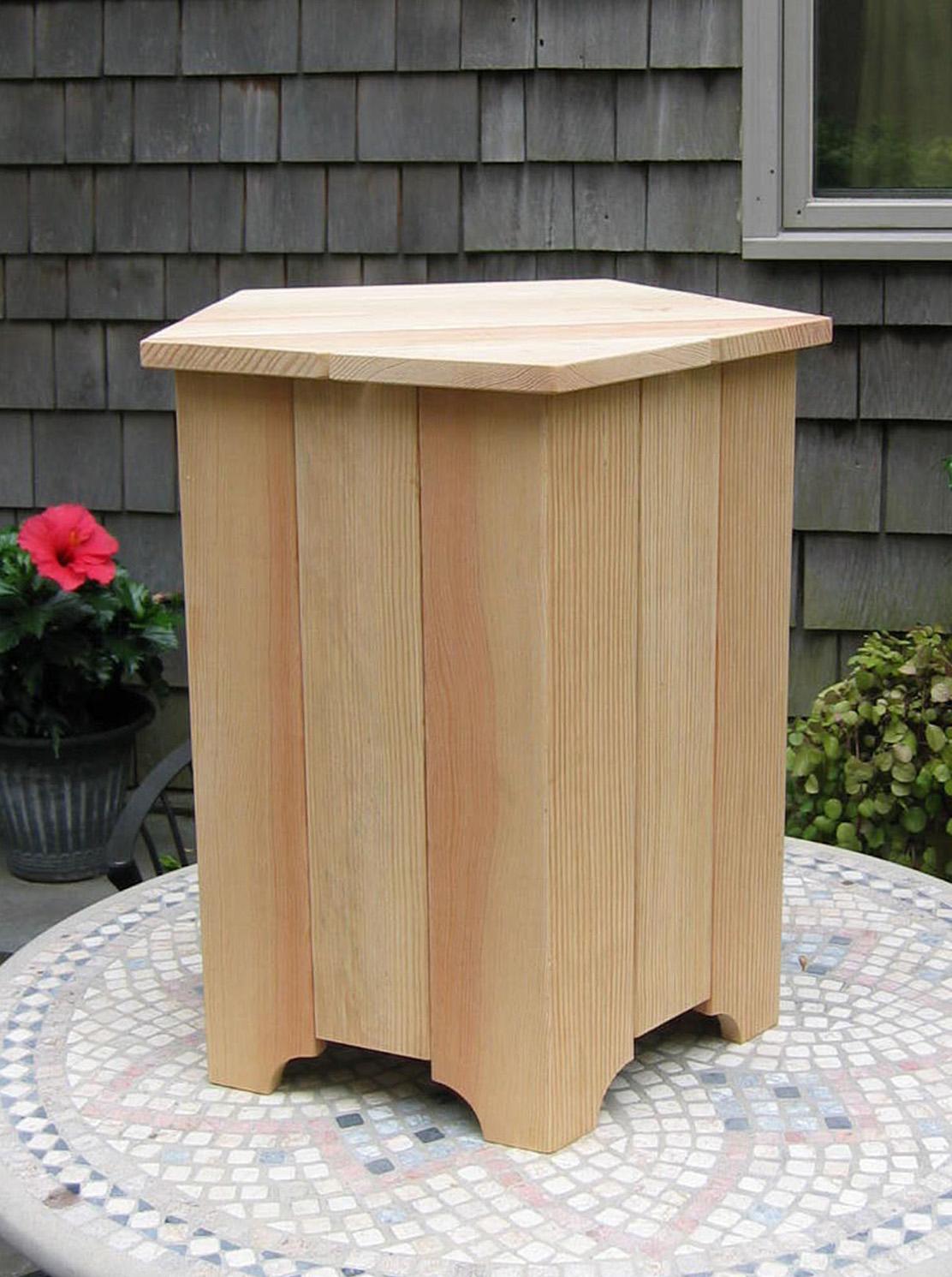 white oak wood 20 lb propane tank cover table