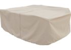 white patio table cover with umbrella hole