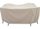white retcangular patio table cover with umbrella hole