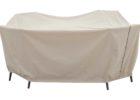 white retcangular patio table cover with umbrella hole