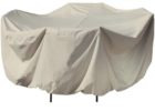 white round 48 inch patio table cover with umbrella hole