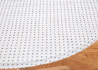 white round fitted and elasticized table cover rectangle (standard)