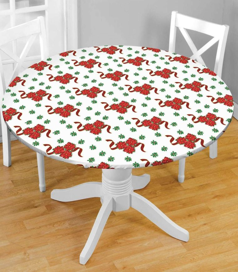 white round fitted vinyl table covers