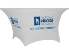 white square stretch table covers with logo