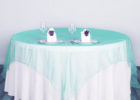 white table covers for party