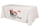 white tradeshow table covers logo