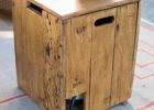 wooden 20 lb propane tank cover table