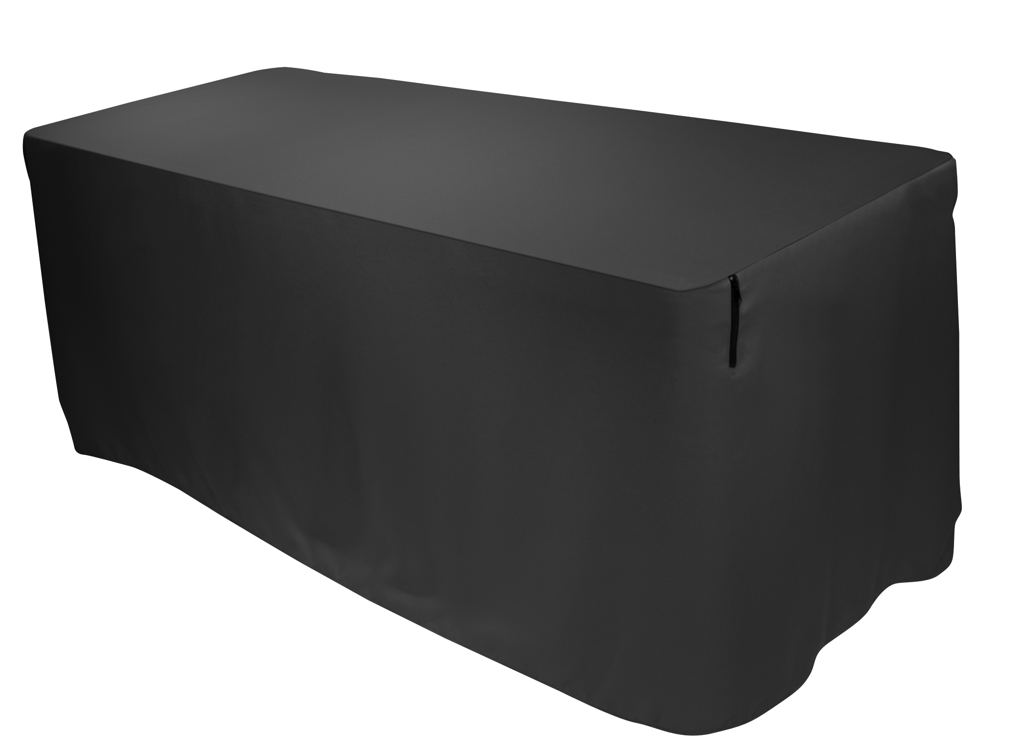 black pleated table covers