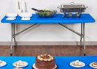 blue plastic fitted table covers disposable