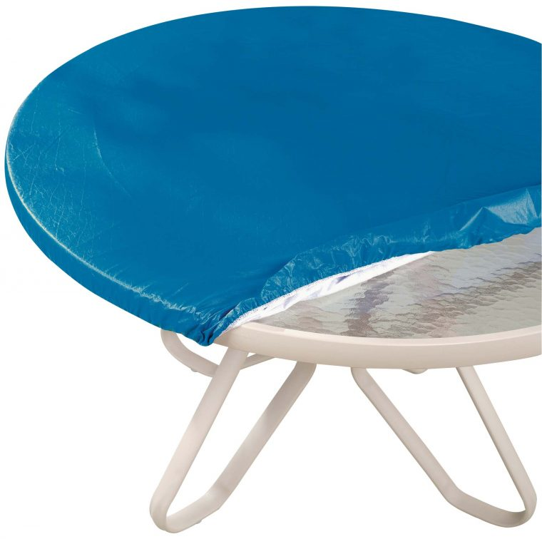 cheap blue round fitted vinyl table covers with elastic