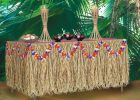 cheap rectangular grass skirt table cover for party