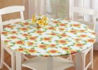 cheap round fitted vinyl table covers with elastic flannel backed
