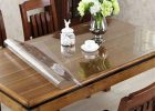 clear square dining table cover pad