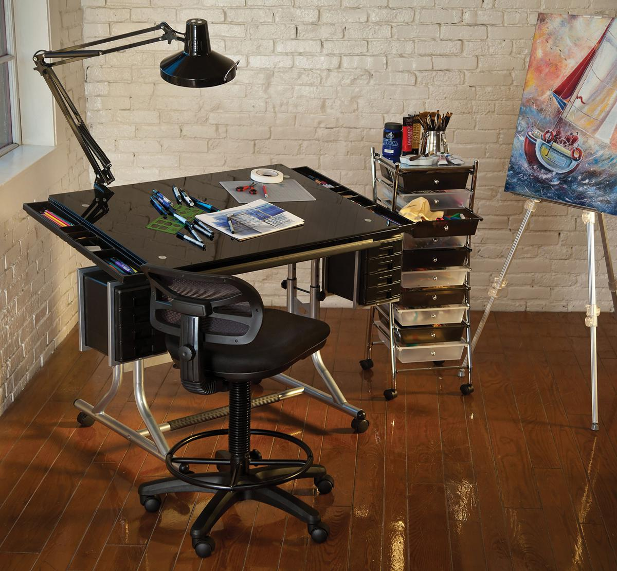 drafting table cover black top