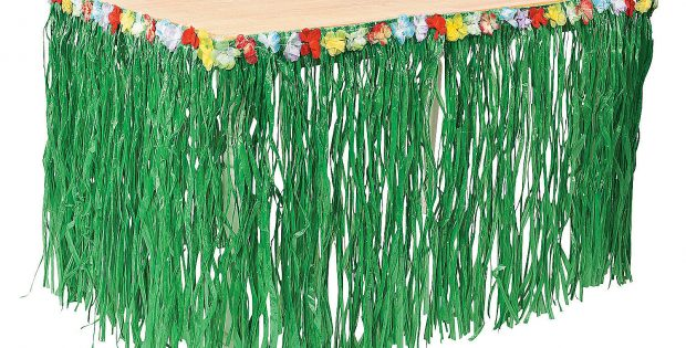 Grass Skirt Table Cover Ideas