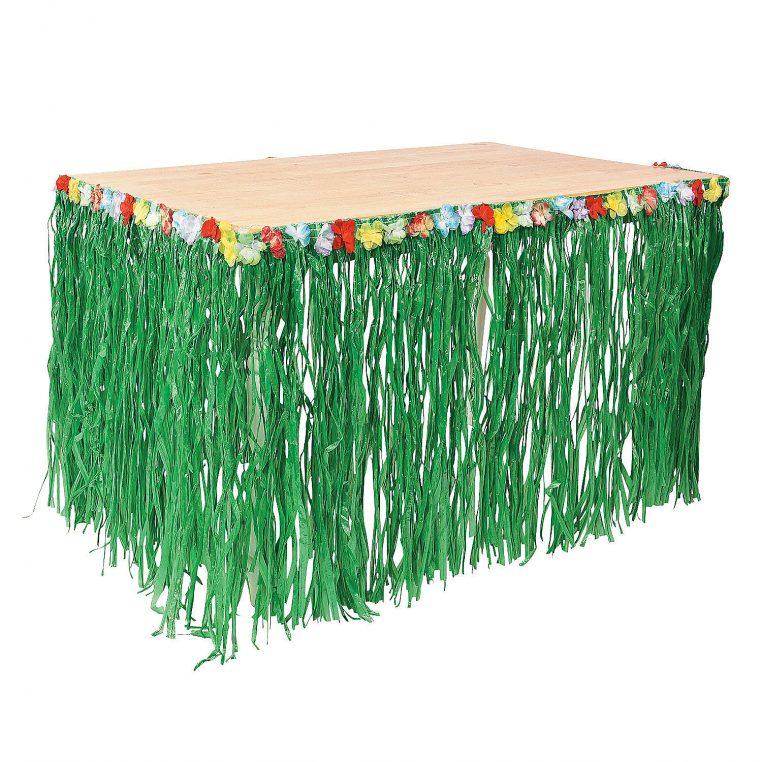 grass skirt table cover