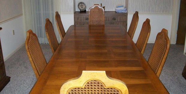 Dining Table Cover Pad in Dining Room