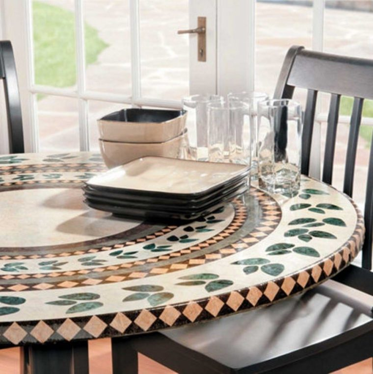 mosaic 60 round elasticized table covers