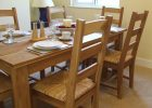 oak wood dining table cover pad