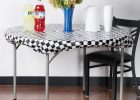 round black disposable stay put table covers