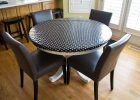 round fitted vinyl table covers flannel